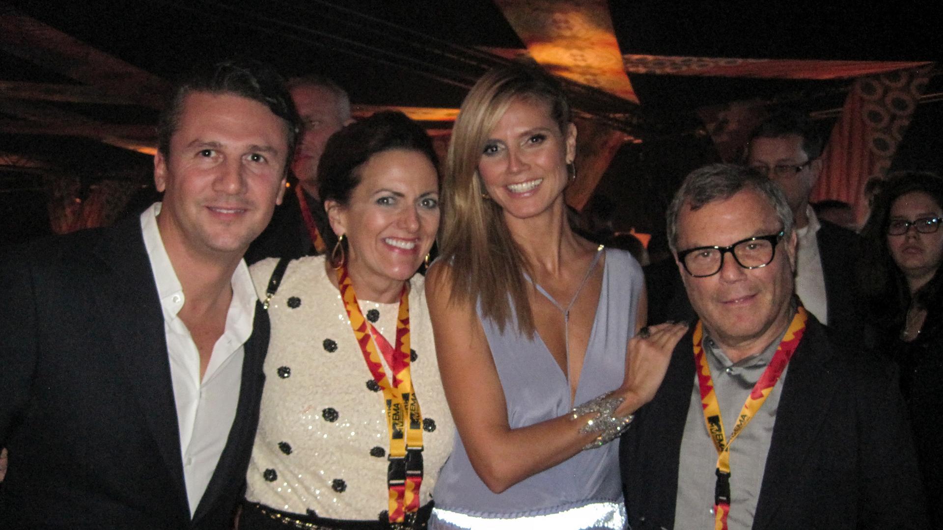 In Frankfurt: Yves, me, Heidi Klum, Sir Martin Sorrell--chairman of WPP