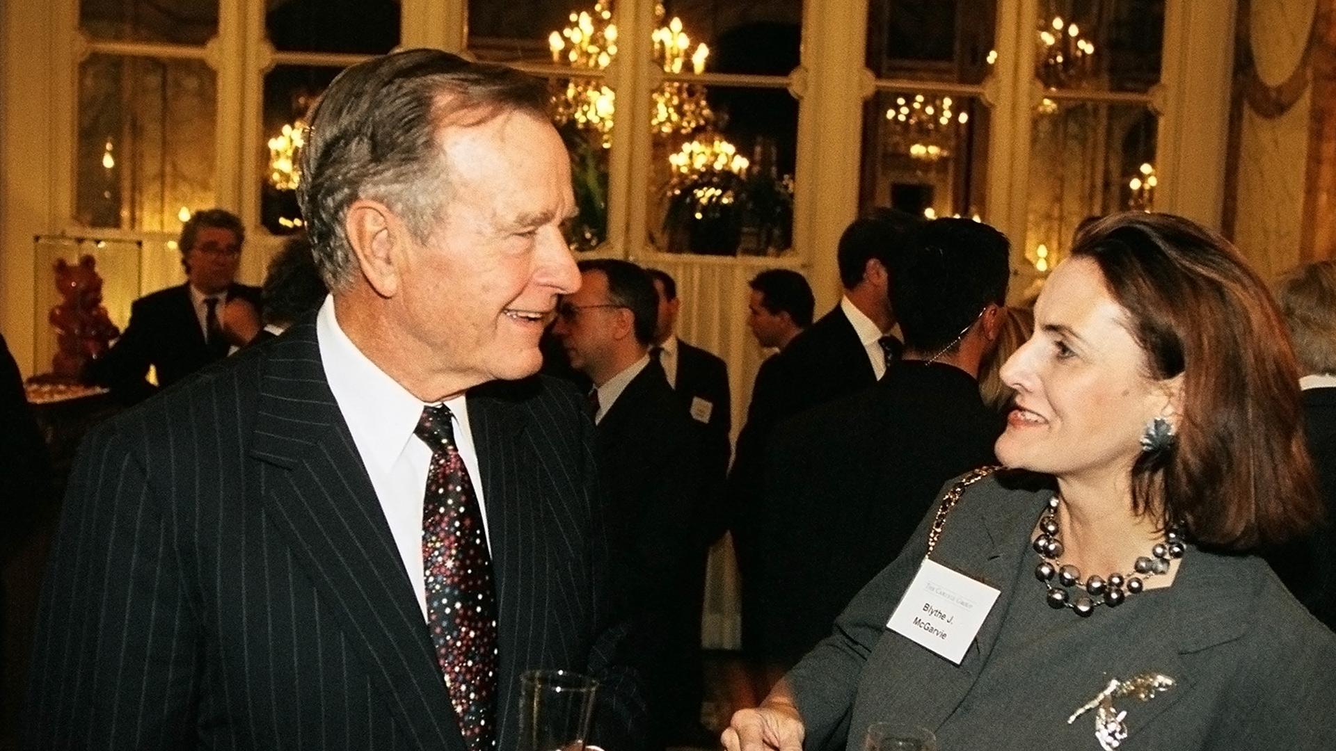 Former President George H.W. Bush at the Hotel de Crillon
